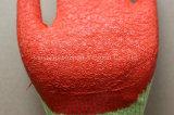 gant de sûreté de 10g Polycotton avec le latex de pli enduit