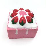 Rosafarbenes Erdbeere-Kuchen Kawaii Squezze langsames steigendes Squishy Spielzeug