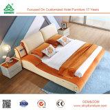 Doppeltes Bett-festes Holz-Schlafzimmer-Bett-spätestes doppeltes Bett des König-Size Wood konzipiert moderne Schlafzimmer-Möbel