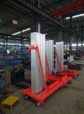 低価格の高品質のアルミニウム空気の作業員の上昇のプラットホームの移動式単一のマストの人の上昇表