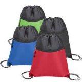 Sac à dos de sac de cordon de polyester pour la promotion et le sport avec la tirette