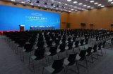 Uso ANSI/BIFMA Reddot estándar de la cumbre G20 que concede la silla plástica de acero amontonable de la oficina de Colofurl