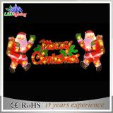 Alta qualità Santa decorativa con l'indicatore luminoso della lettera di Buon Natale