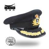 Chapéu militar do oficial de autorização da alta qualidade com bordado do ouro