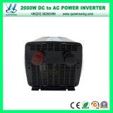 Inversor de alta frecuencia de DC48V AC110/120V 2000W con el indicador digital (QW-M2000)