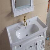 Vanité fixée au mur blanche de salle de bains de PVC de qualité