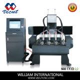 Máquina de gravura de madeira giratória do CNC do router de 4 Axies (VCT-1590R-4H)