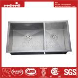 acier inoxydable de pouce 17X32 sous le bassin de cuisine fabriqué à la main de support