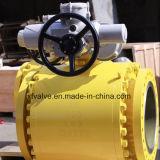 vávula de bola montada muñón del borde del acero de molde de 150lb 300lb 600lb