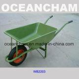 Wheelbarrow da construção Wb2203/carrinho de mão de roda concretos