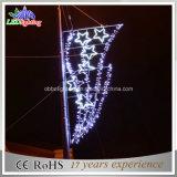 Iluminação amarela pólos da rua do ferro de molde de pólo de luzes do Natal do diodo emissor de luz