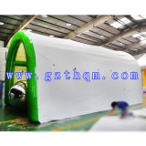 Белой напольного воздуха раздувной шатер кубика/напольной гигантской проекции раздувной