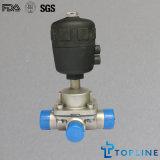 Válvula de diafragma sanitária de aço inoxidável com extremidades de solda (design novo)