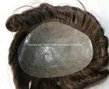 14/15cm Vループした注入されたToupeeの見えない結び目メンズヘアケア製品
