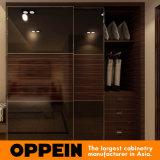 Modernes kundenspezifisches hölzernes Furnier-Blatthotel-Projekt-Schlafzimmer, das Garderobe (YG15-WV01, schiebt)