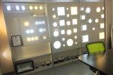 Luz del panel plástica de la superficie LED de la nueva de AC85-265V 12W 2835SMD lámpara cuadrada del techo