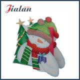 Специфический мешок подарка руки покупкы рождества & снеговика отца шаржа бумажный