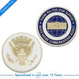 Zoll bilden zwei Seiten Münze mit gedrucktem Firmenzeichen