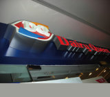vuoto acrilico di pubblicità esterna 3D che forma casella chiara