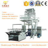 2 Layer HDPE, LDPE, LLDPE Extrusion Blown Film Machine