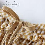 Phoebee 100% algodão vestidos infantis para meninas