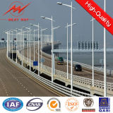 Q235 Steel Galvanized 15m 20m 30m Street Light Poles с Cross Arm