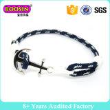 Silber überzog Anker-Schicht-Verpackungs-Seil-Anker-Armband #B103
