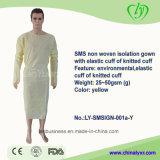 Robe stérile non-tissée jetable d'isolement d'hôpital de SMS