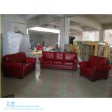 Amerikanische Art-rote Wohnzimmer-Leder-Sofa-Möbel (HW-888S)