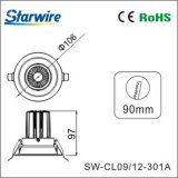 Alto brillo y LED antideslumbrante Downlight con la viruta Ce/RoHS/SAA del CREE