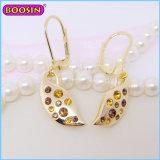 Boucle d'oreille à la mode faite sur commande d'or de bijou de Dimond avec des charmes de lame