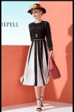 イギリス様式デザイン100%絹の女性服の服の優雅なブロックカラー