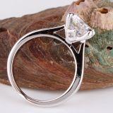 方法結婚指輪女性の円形の水晶のための2016の本物18k白い金のめっきされた婚約指輪