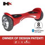 UL2272 han aprobado la tarjeta motorizada Hoverboard derecha eléctrica del patín del patín de la vespa del Unicycle elegante del balance del uno mismo de 2 ruedas