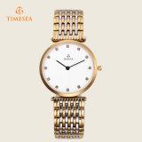 Form-Frauen-Mann-rostfreie Uhr-Armbanduhr 70033