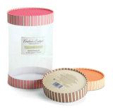 Embalaje de papel corrugado caja de regalo con la ventana clara