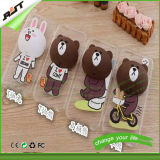 iPhone 6을%s Strap를 가진 3D Cute Animal Pattern Cellphone Cover