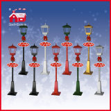 Music 180cm를 가진 빨간 House Rainproof Christmas Snowing Streetlamp