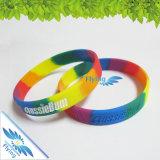 Wristband del silicone impresso marchio multicolore di alta qualità