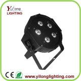 Servicio del OEM 5X10W RGBW LED PAR64 cubierta plástica