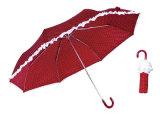 スカートプリント3フォールドのアルミニウム軽い傘(YS-3FM21083948R)