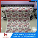 45/50 / 70/80 / 100GSM transfert rapide Sublimation thermique Jumbo Rouleau de papier sec pour Sublimation Textile