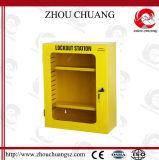 Желтая станция замыкания коробки замка цвета для Padlock безопасности индустрии