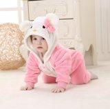 Ropa del bebé, mameluco 100%/gato y ratón Shaped del paño grueso y suave del poliester