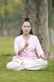 Vêtement en bambou de Chi de Tai de loisirs de chanvre de collier oblique Long-Sleeved à haute teneur