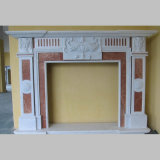 Mano Carved  Marble  French  Fireplace  Mensola del camino