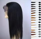 7A 브라질 머리 긴 Yaki 똑바른 사람의 모발 가발