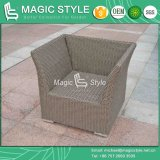 Sofá ajustado do jardim do sofá de vime ajustado de vime sintético do projeto do hotel do sofá ajustado (estilo mágico)