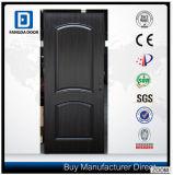 Altes Teakholz gebogene Archen-Entwurfs-kleine ovale Entwurfs-Stahl-Tür