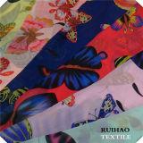 2016 novo! Chiffon de veludo da arruela da impressão 100%Poly/tela de seda de veludo para o vestido/Swimwear